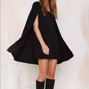 Nasty Gal black cape Dress